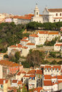 Tiled roofs view from castelo de sao jorge lisbon portugal rooftops viewed taken saint georges castle Stock Photos