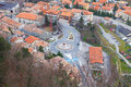 Tiled rooftops aerial view. Royalty Free Stock Photo