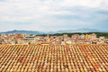 Tiled rooftops of Girona, Catalonia Royalty Free Stock Photo