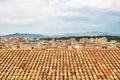 Tiled rooftops of Girona, Catalonia Royalty Free Stock Photo