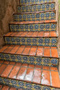 Tiled stairway, Tlaquepaque in Sedona, Arizona Royalty Free Stock Photo