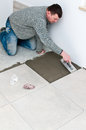 Tiler at work Royalty Free Stock Photography