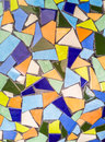 Tiles background the colorful broken trencadis pattern Stock Images