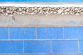 Tiles and cement floor blue Stock Images