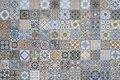 Tiles Floor Ornament Collection Gorgeous Seamless Patchwork Colorful Painted Tin Glazed Ceramic Tilework Pattern Royalty Free Stock Photo