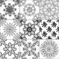 Tiles Floor Ornament Collection Royalty Free Stock Photo