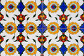 Tiles with floral pattern on a wall in christchurch new zealand Stock Image