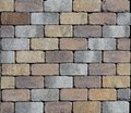 Tiles for outdoors pavements, also used as brick for surrounding wall. Royalty Free Stock Photo