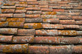 Tiles roofing an old roof of a house Stock Photo