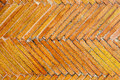 Tiles texture orange geometrical pattern. Floor old surface design Royalty Free Stock Photo