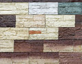 Tiles wall variety color samples Stock Image
