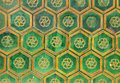 Tiles of the walls of the forbidden city Stock Photography