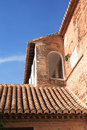 Tiling roof nice old spanish house with and arch window Royalty Free Stock Images