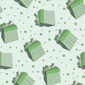 Tiling texture with green boxes Stock Photography