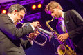 Till bronner quintet at kaunas jazz lithuania april performs the stage of festival Stock Image