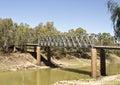 Tilpa Darling River Bridge Royalty Free Stock Photo