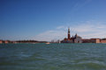 Tilt shift photo of view of Santa Maria Maggiore island. Soft fo Royalty Free Stock Photo