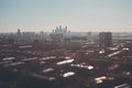 Tilt shift shooting of cityscape from high point Royalty Free Stock Photo