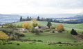 Tilt Shifted Farm Land Royalty Free Stock Photo