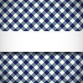 Tilted gingham plaid pattern simple and beautiful banner on seamless Stock Photography