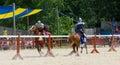 Tilting Knights 3 Royalty Free Stock Photo