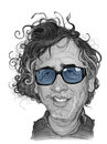 Tim burton caricature sketch for editorial use Royalty Free Stock Images