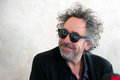 Tim burton famous american film director during press conference in prague czech republic march Stock Photo