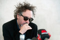 Tim burton famous american film director during press conference in prague czech republic march Stock Photos