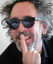 Tim burton famous american film director during press conference in prague czech republic march Royalty Free Stock Image