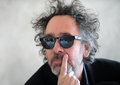 Tim burton famous american film director during press conference in prague czech republic march Royalty Free Stock Photos