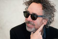Tim burton famous american film director during press conference in prague czech republic march Royalty Free Stock Images