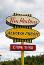 Tim hortons sign halifax canada st august a for a restaurant along a road during the day Stock Image
