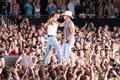 Tim McGraw & Kenny Chesney Royalty Free Stock Photos