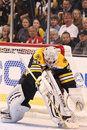 Tim Thomas Boston Bruins makes the save Royalty Free Stock Photos
