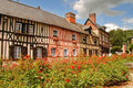 Timber Framed Normandy Houses Royalty Free Stock Images
