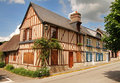 Timber Framed Normandy Houses Stock Image