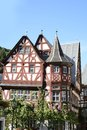 Timber framing bacharach germany september the picturesque old town of bacharach germany on september the so called old house is a Stock Photo