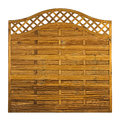 Timber garden fance panel lattice isolated on white background Stock Images