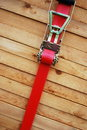Timber with lashing strap Royalty Free Stock Photos
