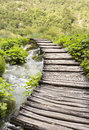Timber walkway in Plitvice, Croatia Stock Photos