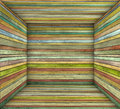 Timber wood multiple color plank square empty space d Royalty Free Stock Images