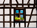 Timbered wall with window Royalty Free Stock Images