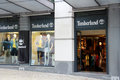 Timberland store situated on rua da liberdade lisbon portugal photo taken april Stock Photography