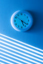 Time blue clock Royalty Free Stock Photography