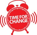 Time for change alarm clock icon, vector Royalty Free Stock Photo