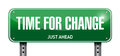 time for change road sign illustration design Royalty Free Stock Photo