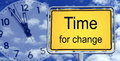Time for change sign Royalty Free Stock Photo