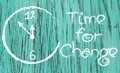 Time for change white-painted clock inspirational Royalty Free Stock Photo