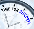 Time for children message means playtime or getting pregnant meaning Royalty Free Stock Photos
