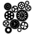 Time Clock Gears Clipart Stock Photos